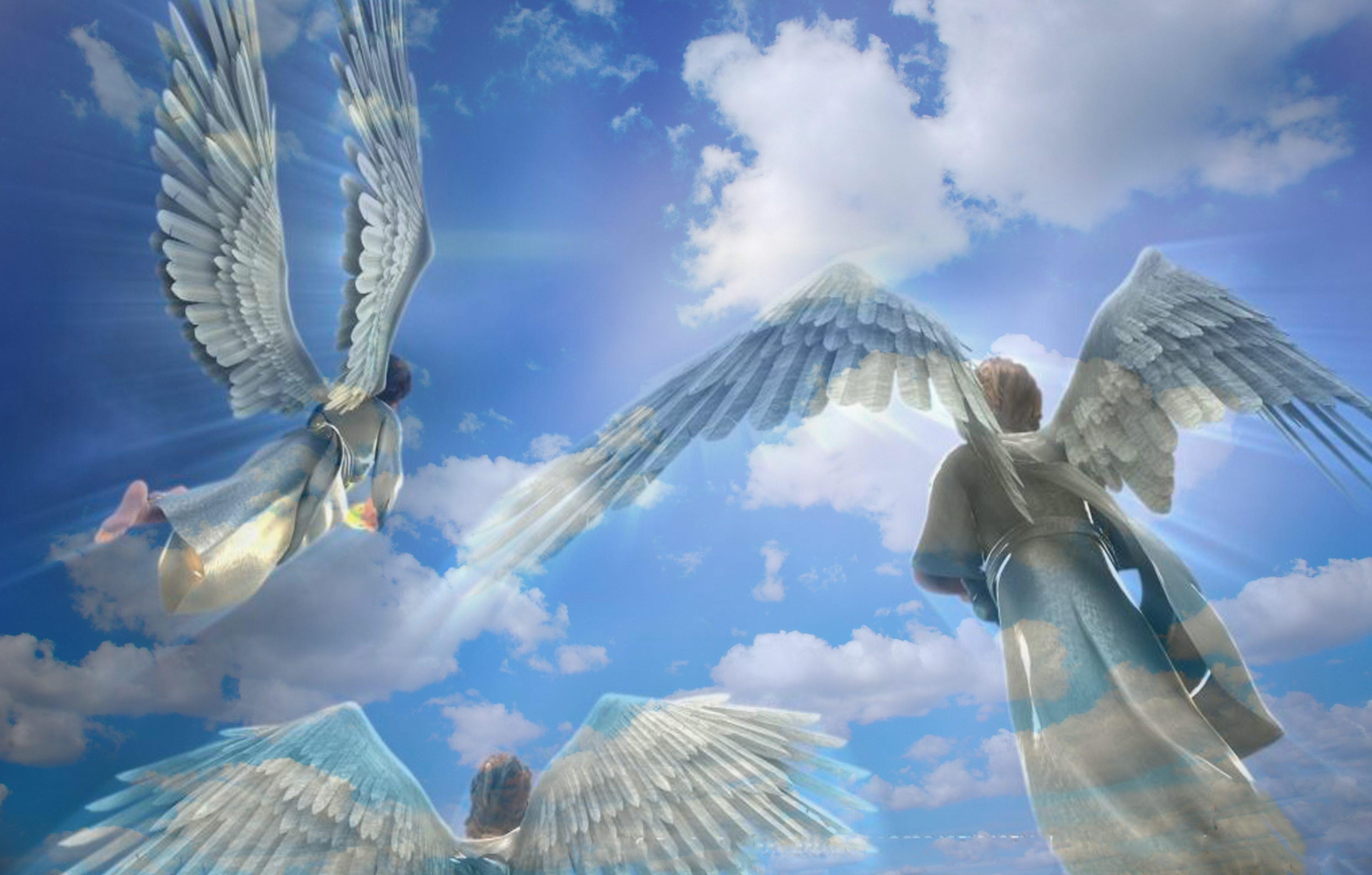 Resultado de imagem para anjos acampando ao redor